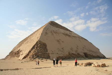 Bent Pyramid Dashur, ancient Egypt