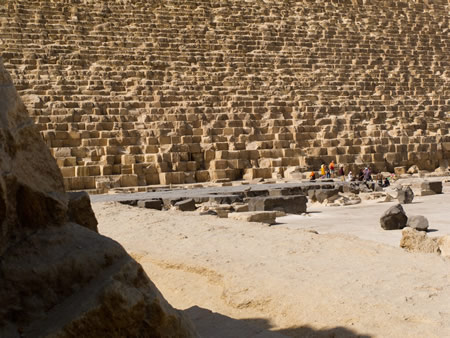 Giza Plateau Pyramids megalithic ancient Egypt