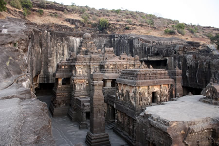 Kailasa Temple Ellora India megalithic builders
