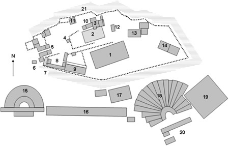 Acropolis of Athens Greece site map