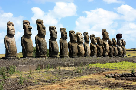 megalithic builders Moai Easter Island Chile