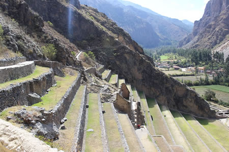Temple Hill Fortress Ollantaytambo Peru ancient megalithic builders